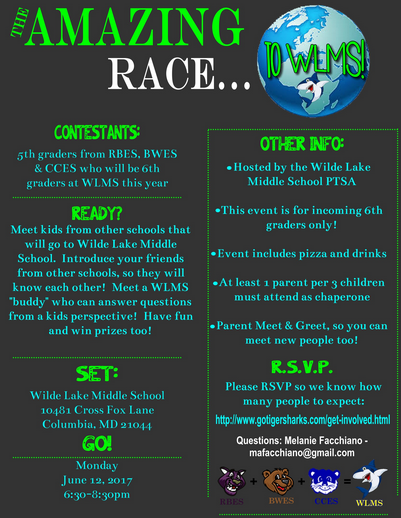Amazing Race Registration for WLMS