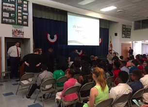 Opening Ceremony for 5th Grade Student Congressional Hearings